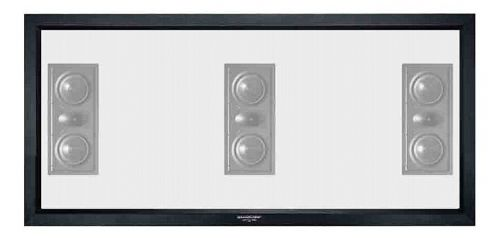 Grandview Cyber Series Fixed Frame Acoustic Transparent 2.35:1 Screen 143 inch (11ft Wide)